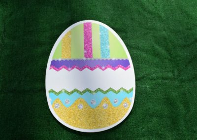 Easter Egg Sparkle Glitter Yard Sign