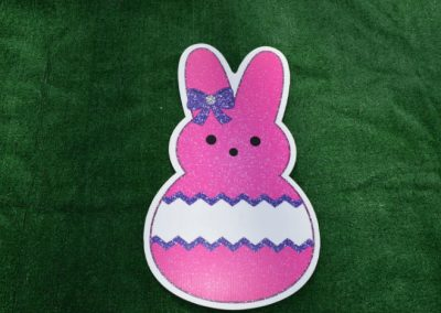Easter Pink Bunny Peep Yard Sign
