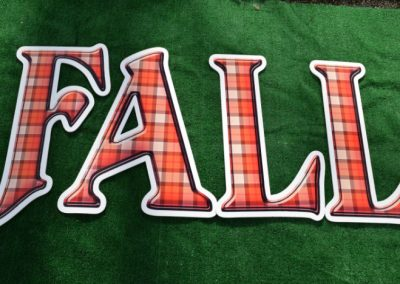 FALL Plaid Harvest Orange Yard Signs