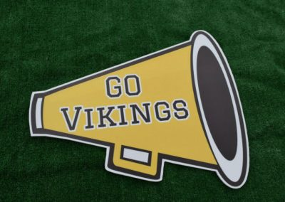Go Vikings Cheer Megaphone Spirit Yard Sign