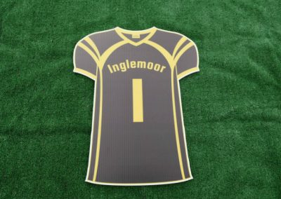 Inglemoor High School Vikings Sports Jersey Yard Sign
