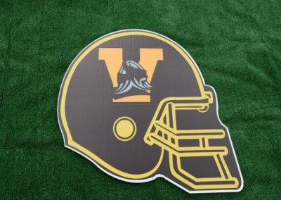 Inglemoor Vikings Football Helmet Yard Sign