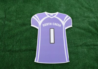 North Creek High School Sports Jersey Yard Sign