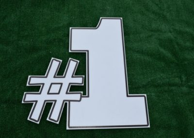 Number 1 White Yard Sign