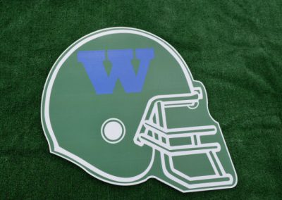 Woodinville High School Falcons Football Helmet Yard Sign