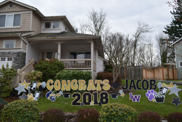 looking for graduation party decorations check out our rad grad yard sign displays