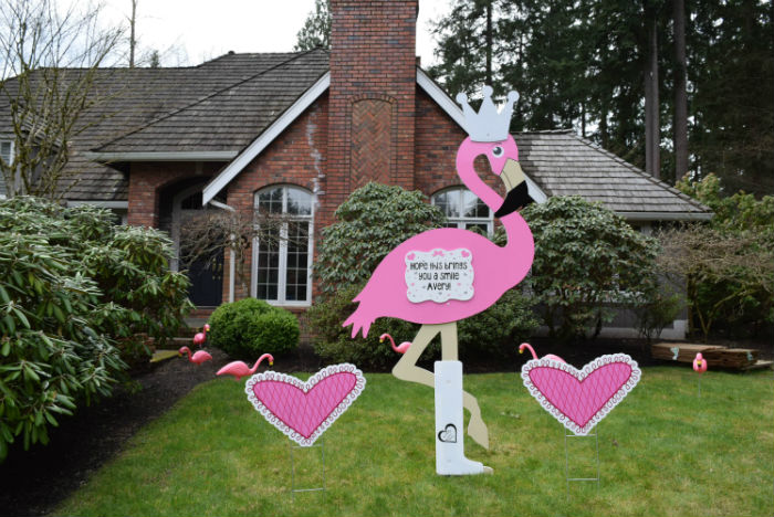 How about Birthday Yard Signs or a Flamingo Flocking for your next Big Celebration?