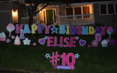 Double Digits are a FUN Reason to Celebrate!  Birthday Signs by Yard Announcements will make such a FUN Surprise!