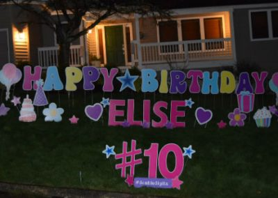 Double Digits Colorful Birthday Yard Signs