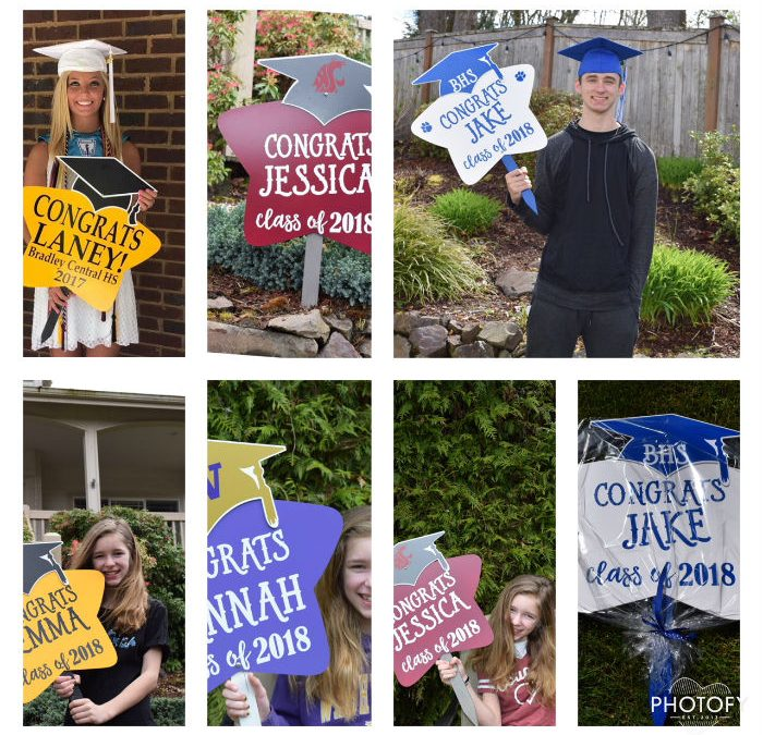 Personalized Congrats Grad Signs are now available!