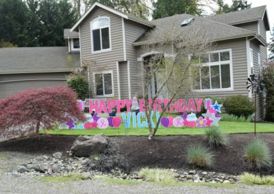 Pink Blue Purple Birthday Yard Signs