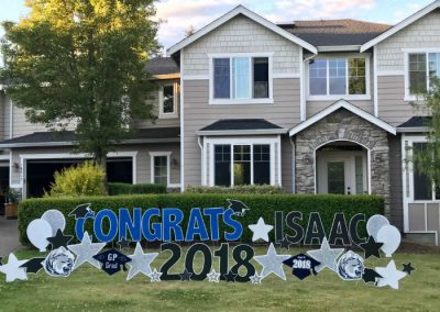 Blue Black Glacier Peak Grad Yard Signs