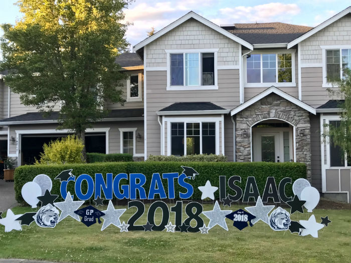 Birthday Yard Signs & Congrats Grad Signs Make a FUN Memorable Gift – Great for Graduation Party Decorations too!