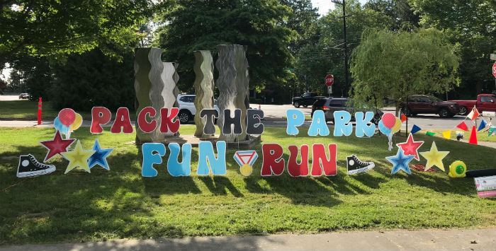 Pack the Park Fun Run Yard Signs