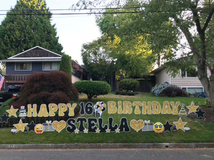 Sweet 16 Birthday Yard Signs – With a Sparkle!