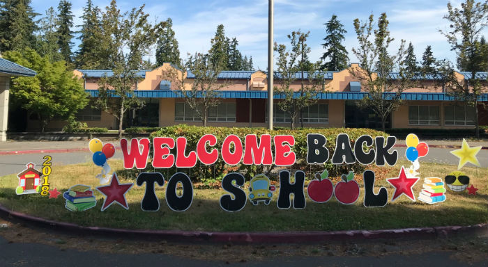 Here's a Great Wayto Welcome Your Students Back to School – With a Yard Sign Display!