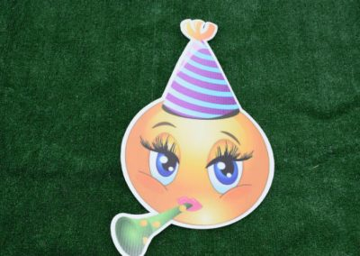 Birthday Girl Emoji Yard Sign