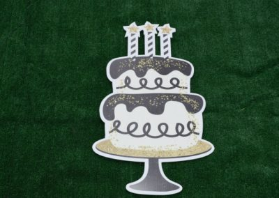 Black Gold Birthday Cake Yard Sign