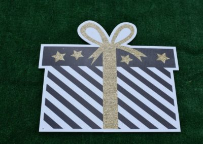 Black Gold Glitter Birthday Gift Yard Sign