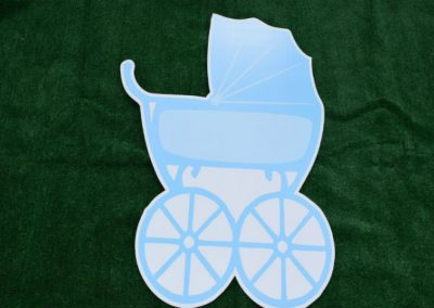 Blue Its a Boy Baby Buggy Yard Sign