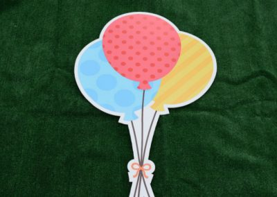 Blue Red Yellow Polka Dots Balloon Bouquet Yard Sign