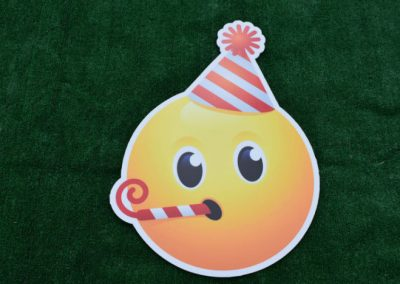 Boy Birthday Emoji Yard Sign