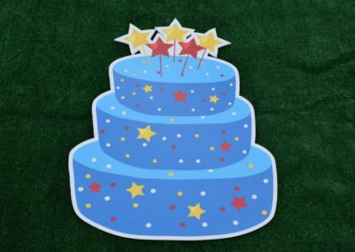 Boys Blue Star Birthday Cake Yard Sign