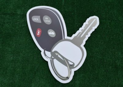 Car Key Yard Sign