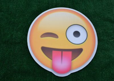 Crazy Emoji Yard Sign