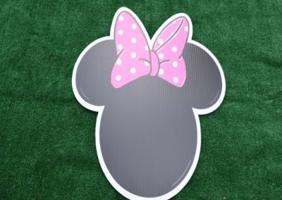 Girl Mouse Yard Sign