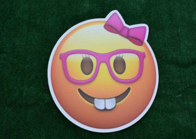 Girl with Glasses Emoji Yard Sign