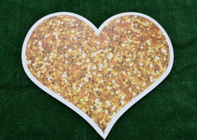 Gold Glitter Sparkle Heart Yard Sign