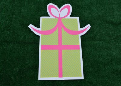 Green Pink Birthday Gift Yard Sign