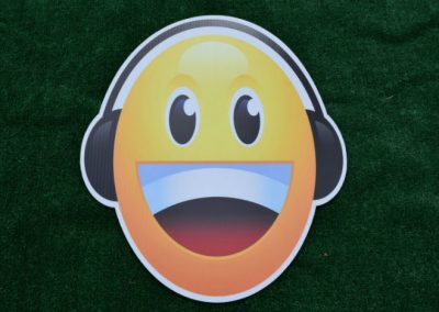 Headphones Emoji Yard Sign