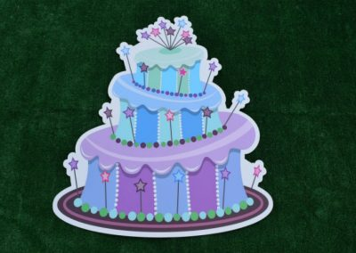 Large Purple Blue Cake Yard Sign