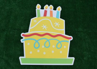 Large Yellow Birthday Cake Yard Sign