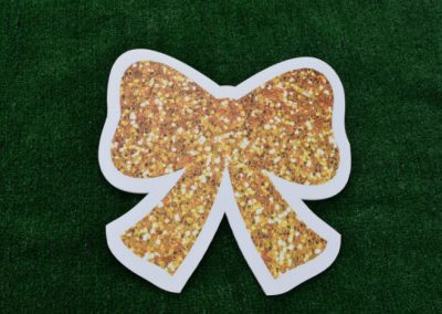 Mini Gold Glitter Bow Yard Sign