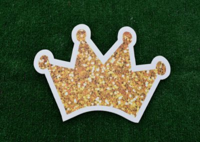 Mini Gold Glitter Crown Yard Sign
