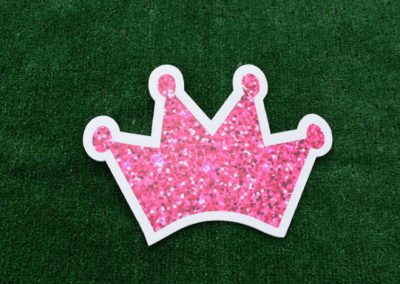 Mini Pink Glitter Crown Yard Sign