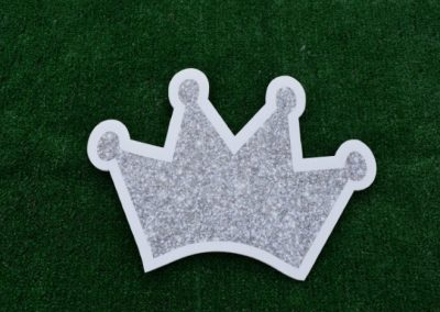 Mini Silver Glitter Crown Yard Sign