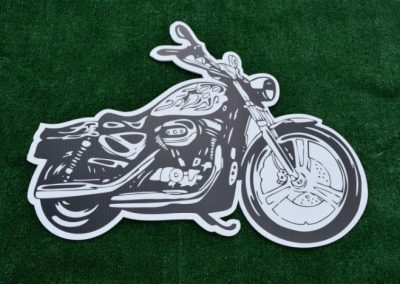 Motorcycle Yard Sign