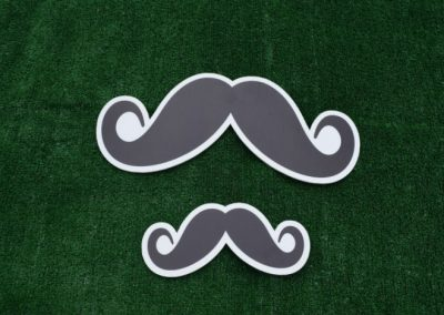 Mustache Large Small Yard Sign