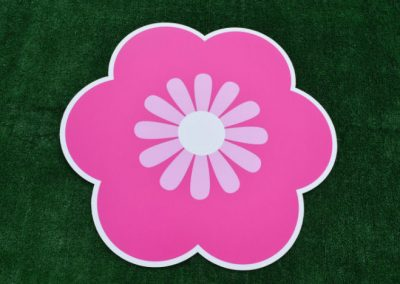 Pink Flower Yard Sign