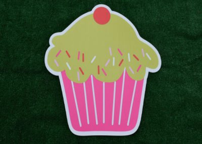 Pink Green Cupcake Yard Sign