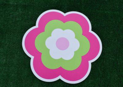 Pink Green Flower Yard Sgin