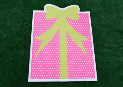 Pink Green Mini Polka Dot Birthday Gift Yard Sign
