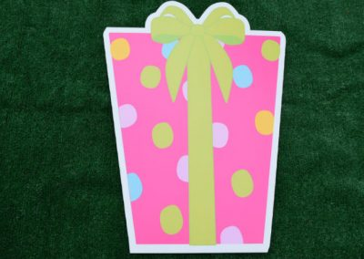 Pink Green Polka Dot Birthday Gift Yard Sign