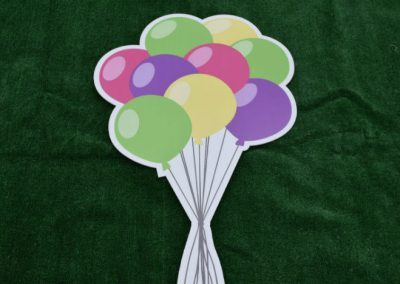 Pink Purple Green Yellow Balloon Bouquet Yard Sign