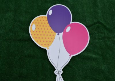 Pink Purple Yellow Balloon Bouquet Yard Sign