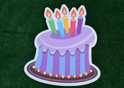Purple Birthday Cake Yard Sign